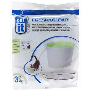 Catit Fresh & Clear Water Fountain Replacement Foam/carbon Cartridge Small - Pica's Pets