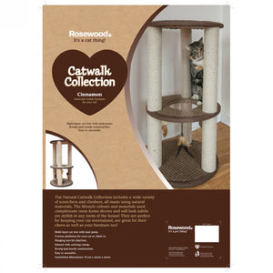 Catwalk Cat Scratch Post Cinnamon - Pica's Pets