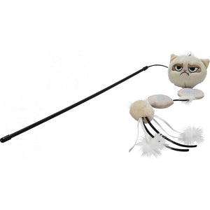 Grumpy Cat Annoying Plush Wand Cat Toy - Pica's Pets