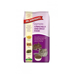 Mr Johnsons Supreme Chinchilla & Degu Pellets 900g - Pica's Pets