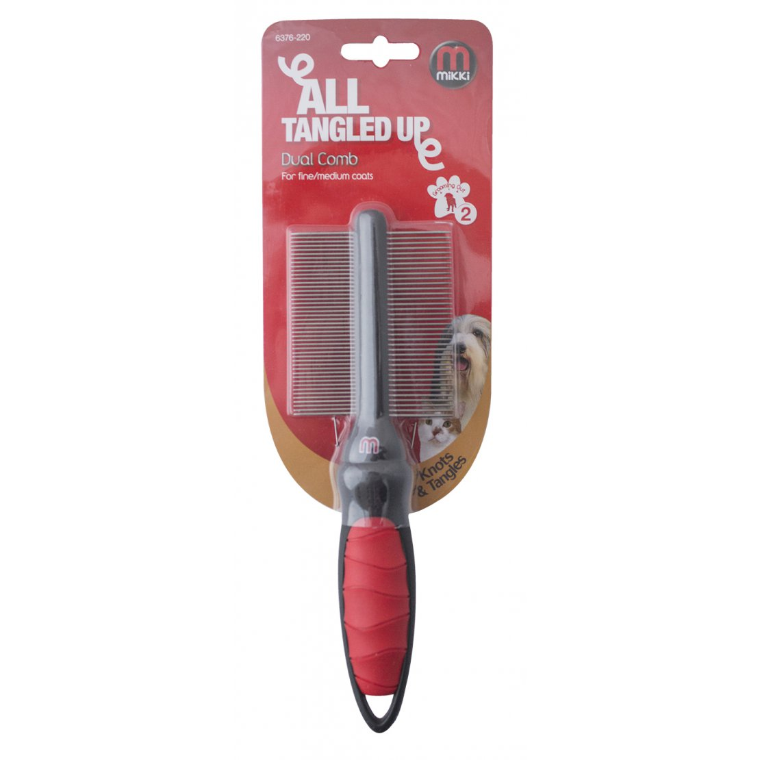 Mikki Dual Comb for Fine and Medium Coats - Pica's Pets