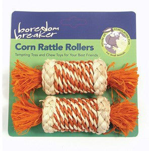Rosewood Boredom Breaker Corn Rattle Rollers - Pica's Pets
