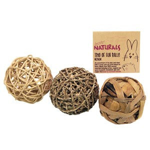 Rosewood Naturals Trio of Fun Ball Medium - Pica's Pets
