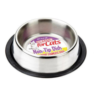 Classic Stainless Steel Non Tip Cat Bowl - Pica's Pets