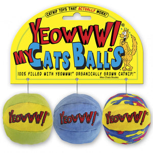 "Yeowww My Cats Balls 2"" 3 Pack Catnip Toy - Pica's Pets"