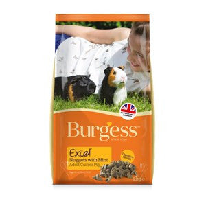 Burgess Excel Guinea Pig Nuggets with Mint 2kg - Pica's Pets