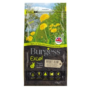 Burgess Excel Rabbit Natures Blend 1.5kg - Pica's Pets