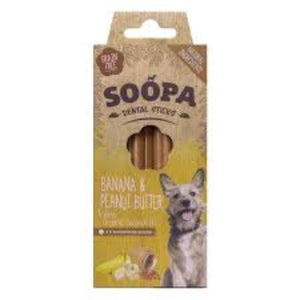 Soopa Dental Sticks Banana & Peanut butter 100g