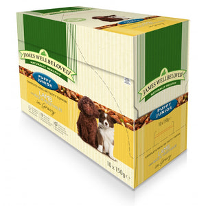 James Wellbeloved Puppy Junior Lamb Pouches 10 x 150g