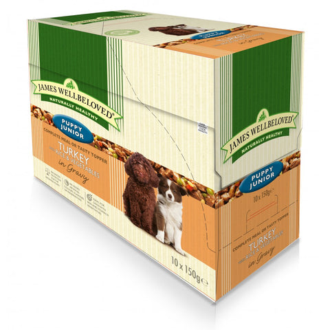 James Wellbeloved Puppy Junior Turkey Pouches 10 x 150g