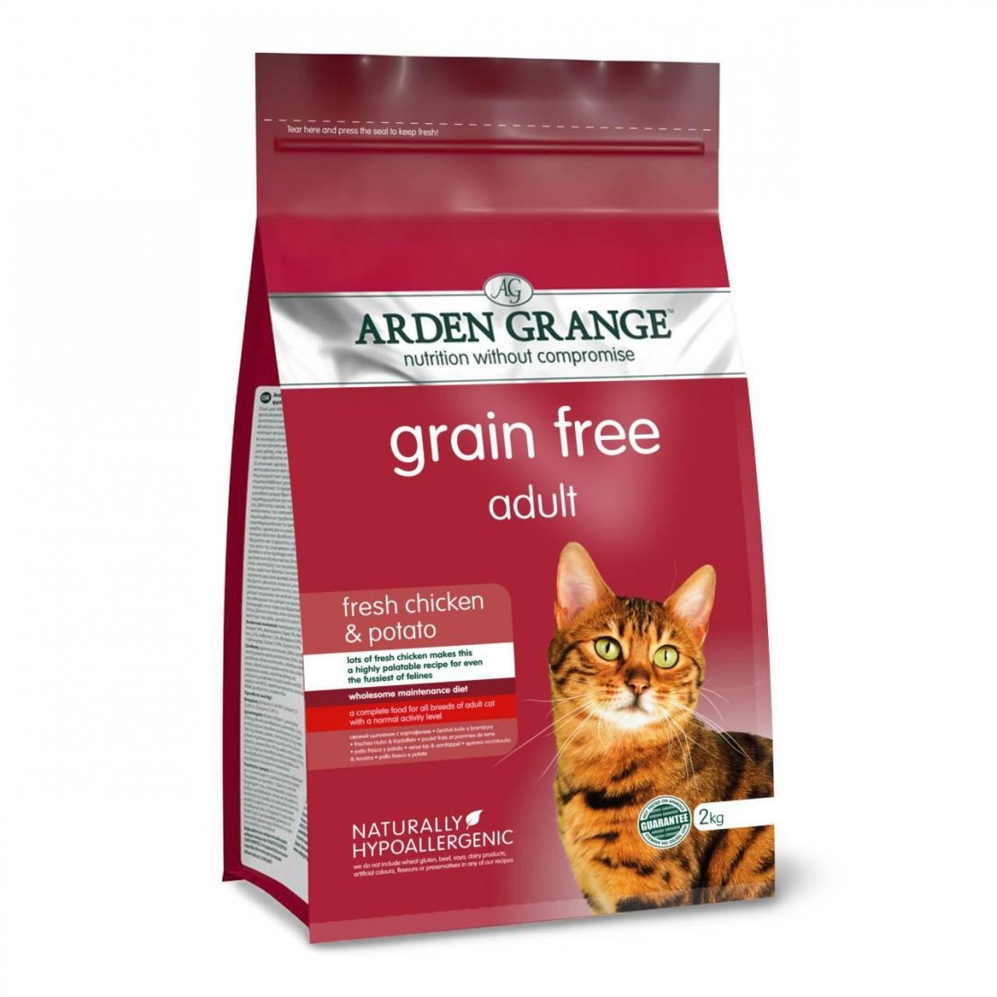 Arden Grange Chicken & Potato Adult Cat Food 400g