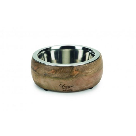 Designed By Lotte Mandira 2 In 1 Wood/steel Feeding Dog Bowl - Pica's Pets