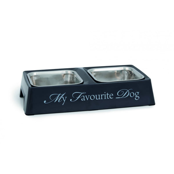 "Designed By Lotte Melamine ""My Favourite Dog "" Double Diner Dog Bowl"