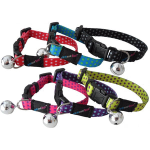 Hem & Boo Safety Buckle Spotty Cat Collar - Pica's Pets