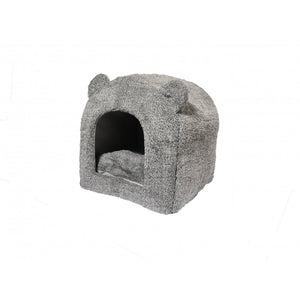 Rosewood Grey Teddy Bear Cat Bed - Pica's Pets