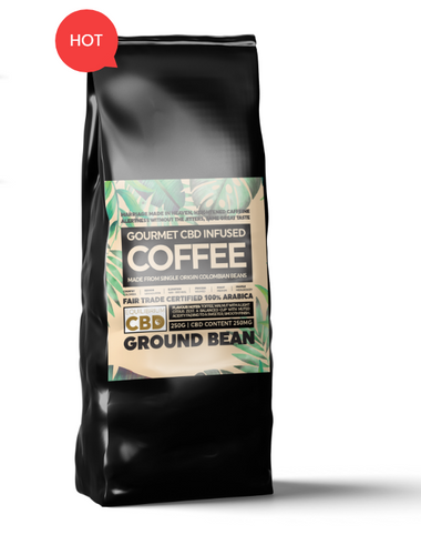 CBD Infused Ground Coffee 250g Bag