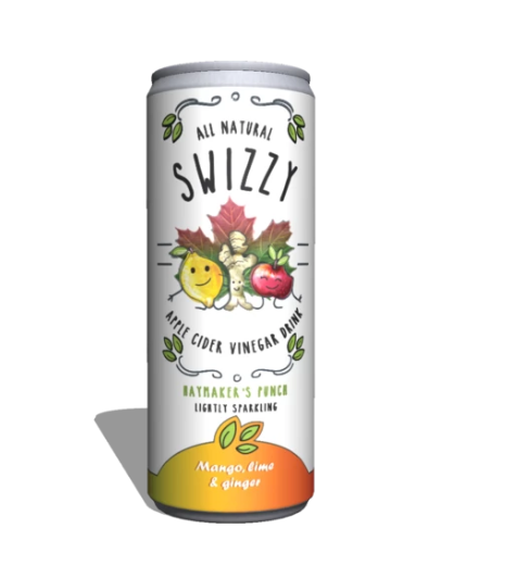 PACK OF 6 X 250ML CANS Mango, Lime & Ginger drink