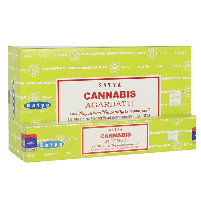 CANNABIS INCENSE STICKS BY SATYA