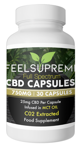 Full Spectrum Hemp Extract Oil in Capsules (750mg 30x Capsules)