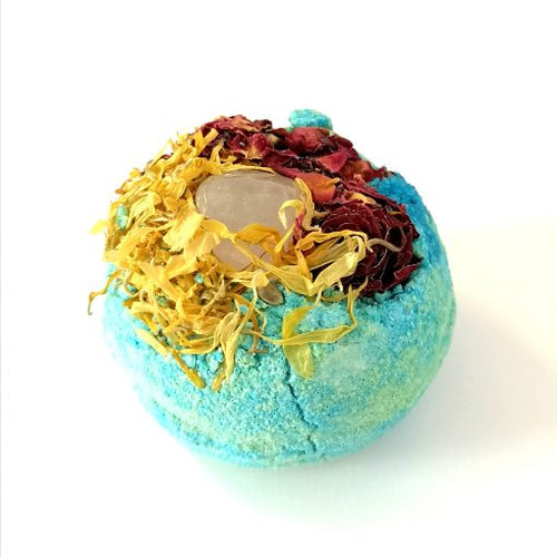 50mg Full Spectrum CBD Bath Bomb with Patchouli, Lemongrass and Bergamot essential oils.
