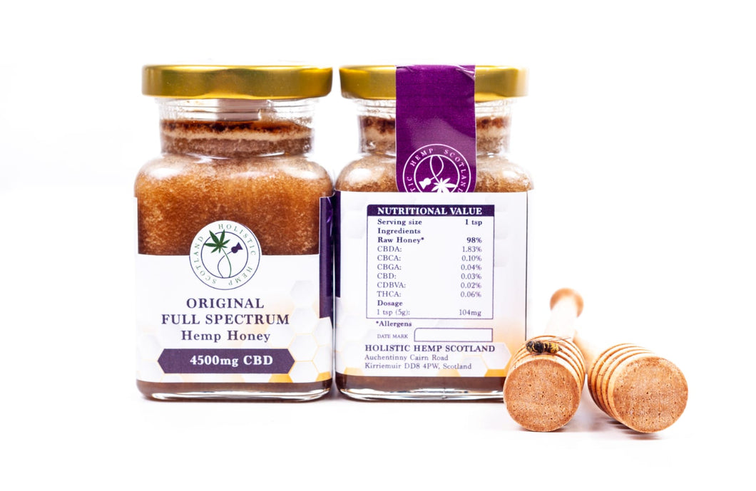 Thick & Luxurious Raw CBDA & CBD Honey.