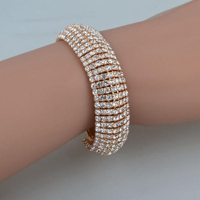 Glam Crystal Bangle Bracelet, bracelet muslim dress - OVEILA