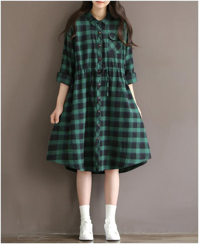 Casually Plaid Top, top muslim dress - OVEILA