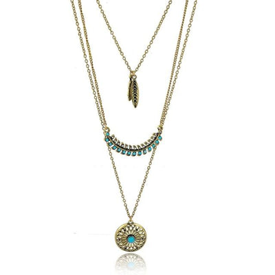 Layered Long Pendant Necklace, necklace muslim dress - OVEILA