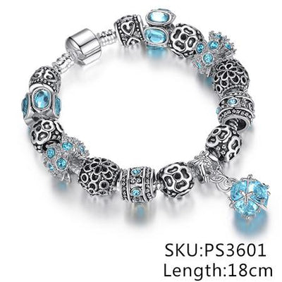 Crystal Charms Bracelet,  muslim dress - OVEILA