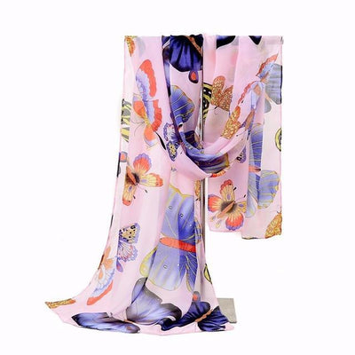Winter Classic Butterfly Print scarf,  muslim dress - OVEILA