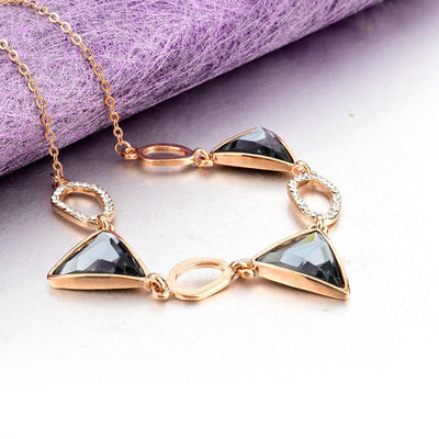 Crystal Triangle Choker Necklace, necklace muslim dress - OVEILA