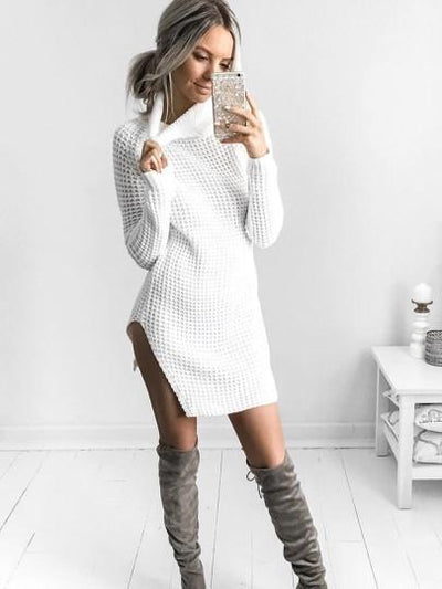 Unique And Warm Sweater Dress, cardigans and sweaters muslim dress - OVEILA