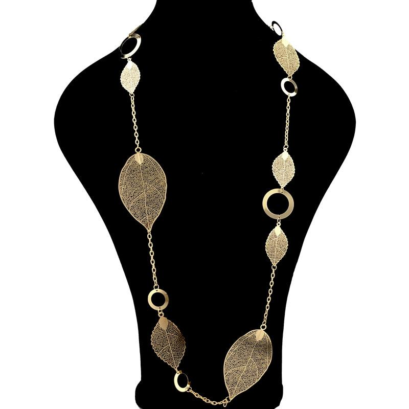Leaf Pendant Necklace, necklace muslim dress - OVEILA