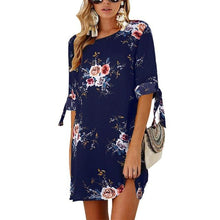 Women's Cool Casual Summer Floral Print Chiffon Dress - Classy Stores Online