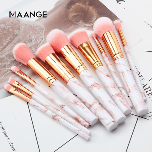 10 Piece Professional Marble Makeup Brush Set - Classy Stores Online