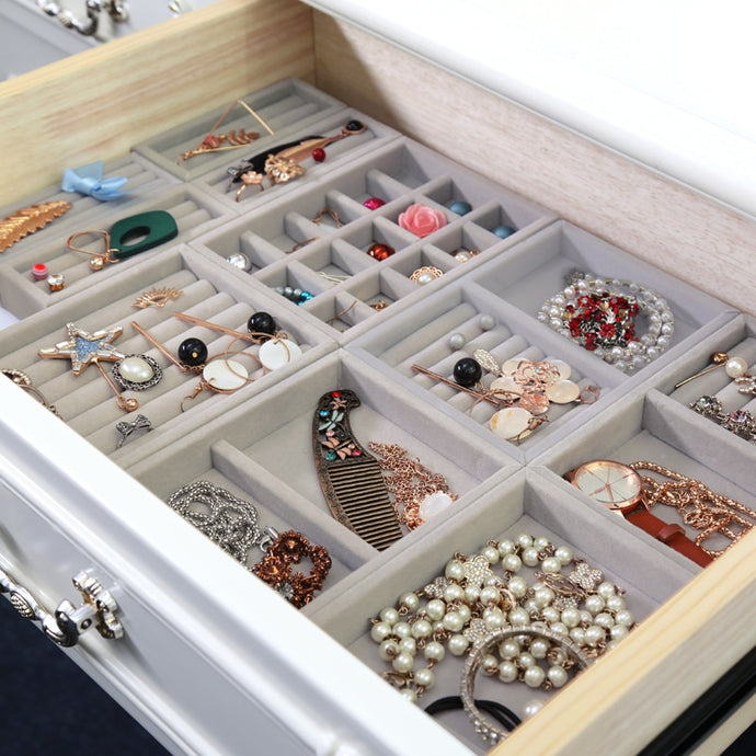 DIY Jewelry Drawer Organization Velvet Storage Trays
