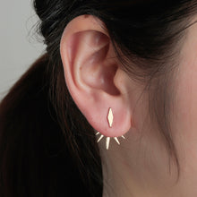 Popular Geometric Spike Stud Ear Jacket Earrings