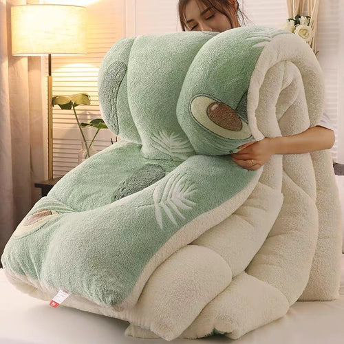 Luxuriously Warm Plush Super Thick Bed Quilt