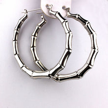 Ladies Trendy Classic Fashion Large Bamboo Hoop Earrings