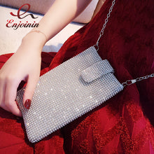 Women's High Quality Dazzling Crossbody Crystal Phone Purse