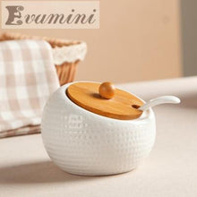 Creative Kitchen Ceramic Condiment Storage Pots