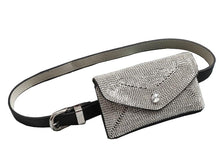 Women's Dazzling Rhinestone Fanny Pack Belt Bag Clutch With Detachable Belt