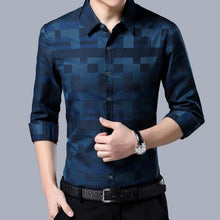 Men's NEW Stylish Long Sleeve Dress Shirt With Turn-down Collar