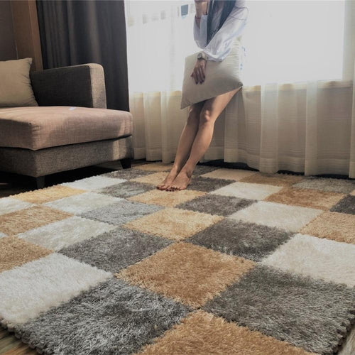 DIY Soft Plush No Slip Interlocking Shag Carpet Square - Classy Stores Online