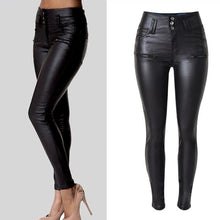 Women's High Waist Skinny Stretch Soft Faux Leather Pants