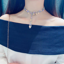 Full Fashion Sparkly Bijoux Rhinestone Choker Necklace