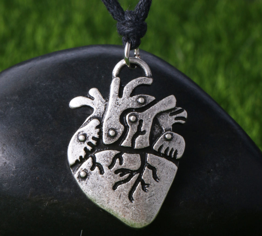 2D Anatomical Heart Necklace