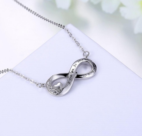 I Love You to the Moon and Back Infinity Necklace