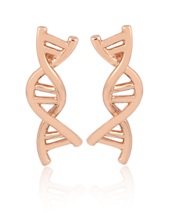 Double Helix Stud Earrings