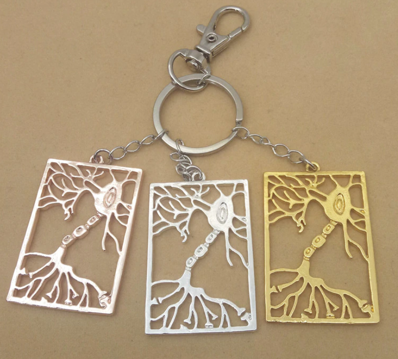 Rectangular Neuron Keychain